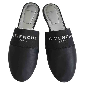 Givenchy Black Leather Mules & Clogs