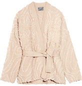 Maiyet Belted Wool-jacquard Jacket - Beige