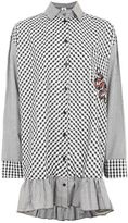 The ragged priest **gingham oversized button shirt