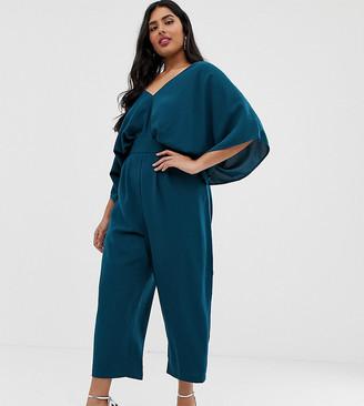 ASOS DESIGN Curve jumpsuit with kimono sleeve and peg leg