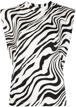 Sandro Kerry zebra print blouse