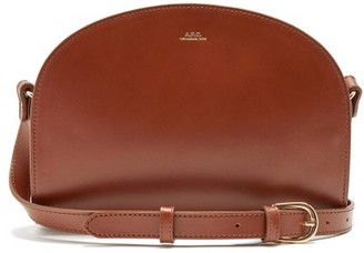 A.P.C. Half-moon Smooth-leather Cross-body Bag - Brown