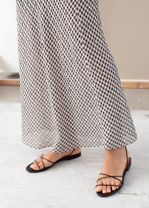 And other stories Gingham Midi Skirt