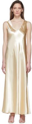 The Row Off-White Satin Natasha Dress