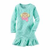 Carter's Girl Mint Dot Gown 2-5
