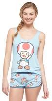 Nintendo Women's Toad Says Hi Pajama Set