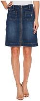 Jag Jeans McCamey Zip Front Crosshatch Denim Skirt in Thorne Blue Women's Skirt