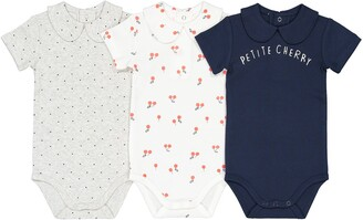 La Redoute Collections Pack of 3 Bodysuits with Short Sleeves in Cotton, 1 Month-3 Years
