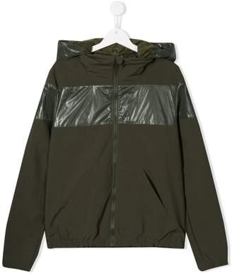 Herno hooded zip-up jacket