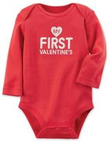 """Carter's My First Valentine's"""" Size 6M Bodysuit in Red"""