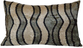 Orientalist Home Natasha Ikat 16x24 Pillow - Black