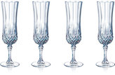 Longchamp Cristal D'Arques Set of 4 Flutes