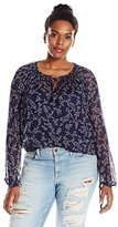 Lucky Brand Women's Plus-Size Printed Shirt