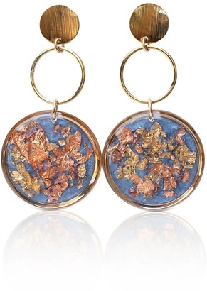 Kate Koel Dangling Blue Earrings