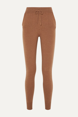 LOULOU STUDIO Maddalena Cashmere Track Pants - Camel