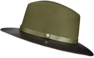 Rag & Bone Floppy Leather-Brim Fedora Hat