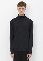Our Legacy washed black army jersey turtleneck