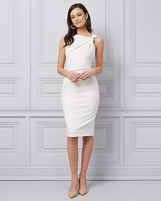 Le Château Crepe Twist Neck Cocktail Dress