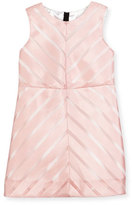 Milly Minis Sleeveless Mitered Stripe Shift Dress, Pink, Size 8-14