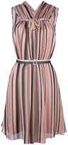 No.21 sleeveless striped dress - women - Silk/Acetate - 42