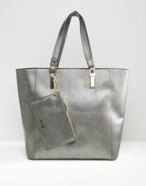 Dune Dana Metallic Tote Bag