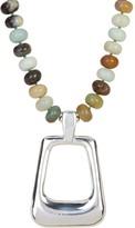 Simon Sebbag Amazonite Beaded Rectangle Pendant Necklace