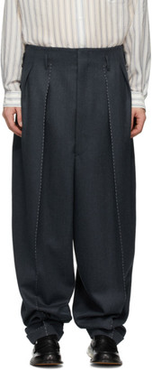 Maison Margiela Blue Wool Balloon Trousers