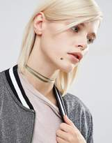 Asos Double Ribbon Choker Necklace