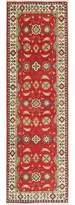 """One-of-a-Kind Quintero Hand-Knotted Runner 2'7"""" x 8' Wool Red Area Rug World Menagerie"""