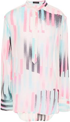 Rag & Bone Printed Silk-blend Crepon Shirt