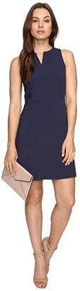 Kensie Heather Stretch Crepe Dress KS3K929S (Heather Navy) Women's Dress