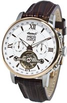 "Ingersoll Men's IN6900RWH ""Grand Canyon IV"" Stainless Steel Automatic Watch with Brown Leather Band"