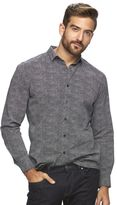 Marc Anthony Men's Slim-Fit Patterned Stretch Button-Down Shirt