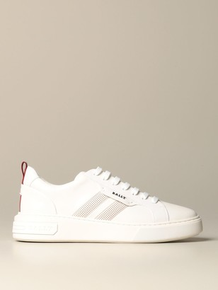 Bally Maxim Sneakers In Leather With Trainspotting Band