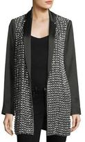 Alice + Olivia Jace Embellished Notched-Collar Oversized Blazer