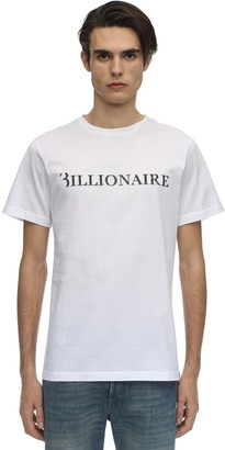 Billionaire SEQUINED LOGO COTTON JERSEY T-SHIRT