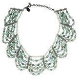 Erickson Beamon Aventurine & Crystal Collar Necklace