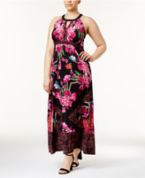 INC International Concepts Plus Size Halter Maxi Dress, Created for Macy's