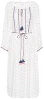 Velvet Isilda floral embroidered dress