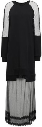 McQ Lace-trimmed French Cotton-terry And Tulle Maxi Dress