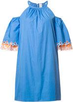 Peter Pilotto cold shoulder dress - women - Cotton - 6