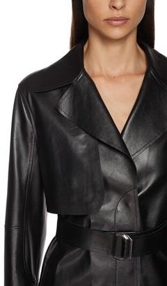 Sportmax Leather Trench Coat