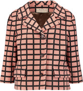 Marni Checked wool-blend jacket