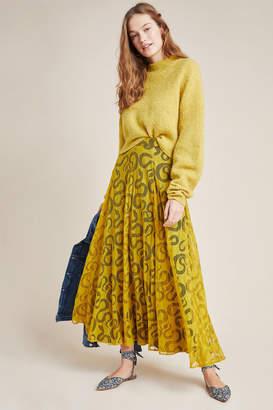 Eva Franco Serpentine Pleated Maxi Skirt