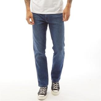 Wrangler Mens Texas Straight Fit Jeans Hot Rock