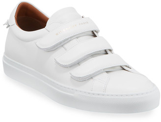 Givenchy Men's Urban Three-Strap Tonal Leather Sneakers