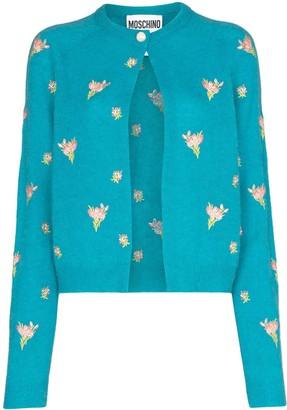 Moschino Floral Print Cardigan