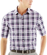 Claiborne Short-Sleeve Fashion Woven Shirt