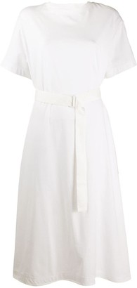 Y-3 Y 3 belted T-shirt dress