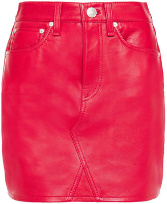 Rag & Bone Itty Bitty Leather Mini Skirt